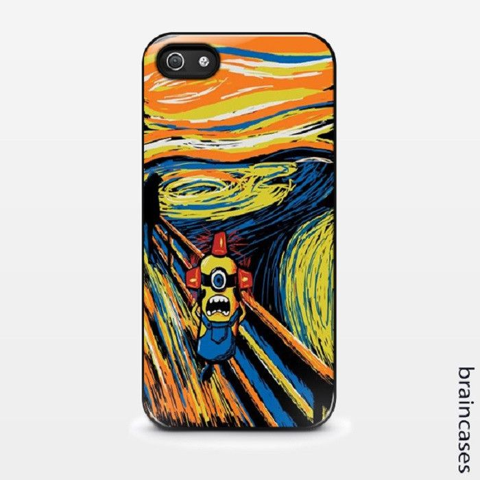 Minion in paint case Iphone 4/4s Iphone 5/5s/5c Iphone 6/6plus Iphone 6s/6s plus