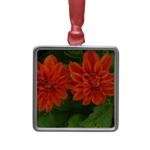 Red Dahlia Ornament from Zazzle.com $31.45