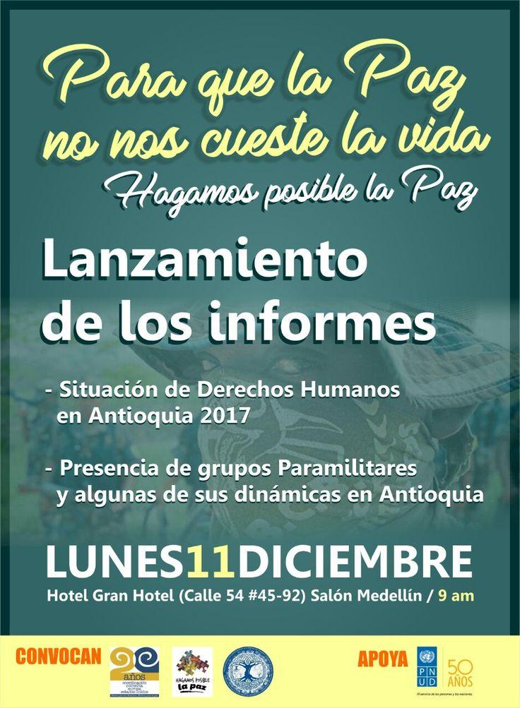 Organizaciones de Antioquia presentarán informe de derechos humanos de 2017