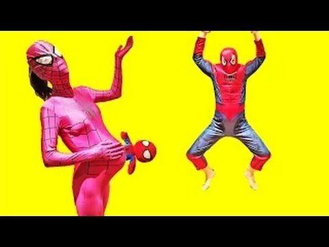 Человек -  паук и девушка - паук на детской площадке▕  Сюрприз малыш -  ...