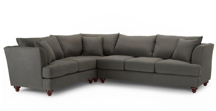 Elliott Corner Sofa, Harrier Grey | made.com