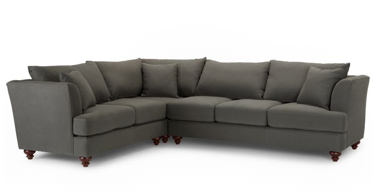 Elliott Corner Sofa, Harrier Grey | made.com