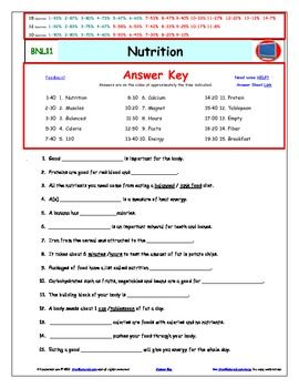 Bill Nye Nutrition Worksheet - Davezan