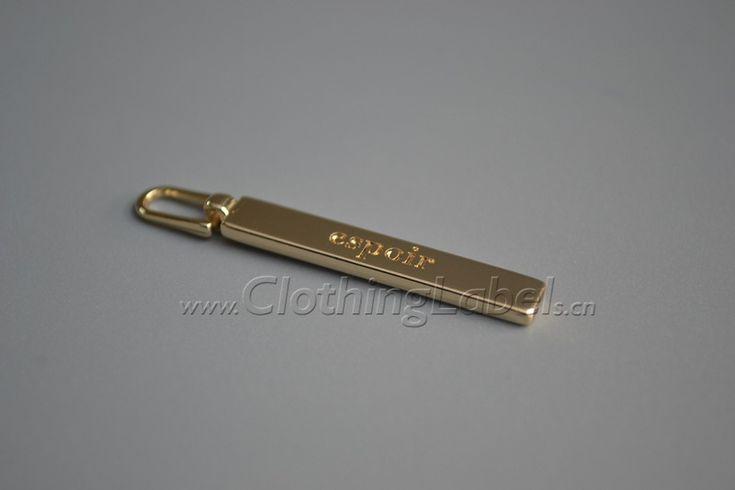 metal puller,zinc alloy,gold color,logo engraved