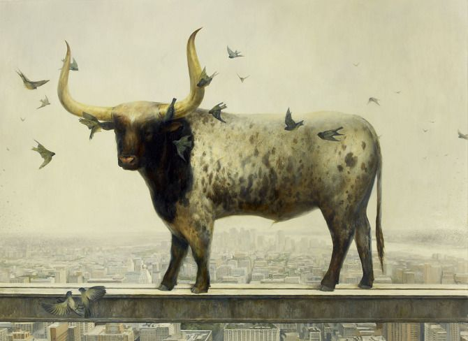 Occupy, 73 x 100, Oil on linen, 2012 Private collection by Martin Wittfooth.