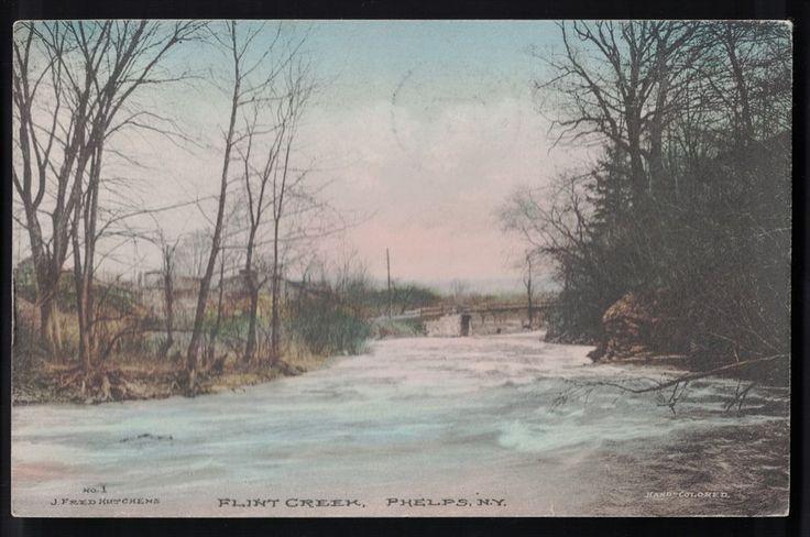 Flint creek phelps new york ny postcard ontario county