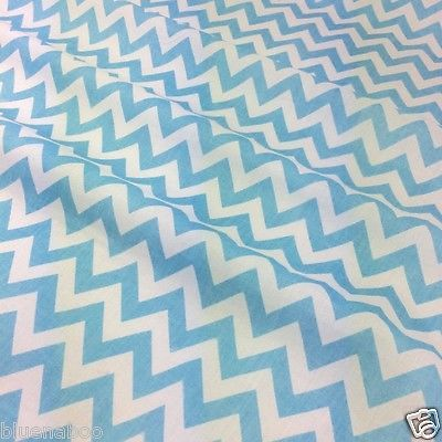 """Per Half Metre Zig Zag Pattern Red, Blue, Pink poly cotton fabric 44"""" wide"""