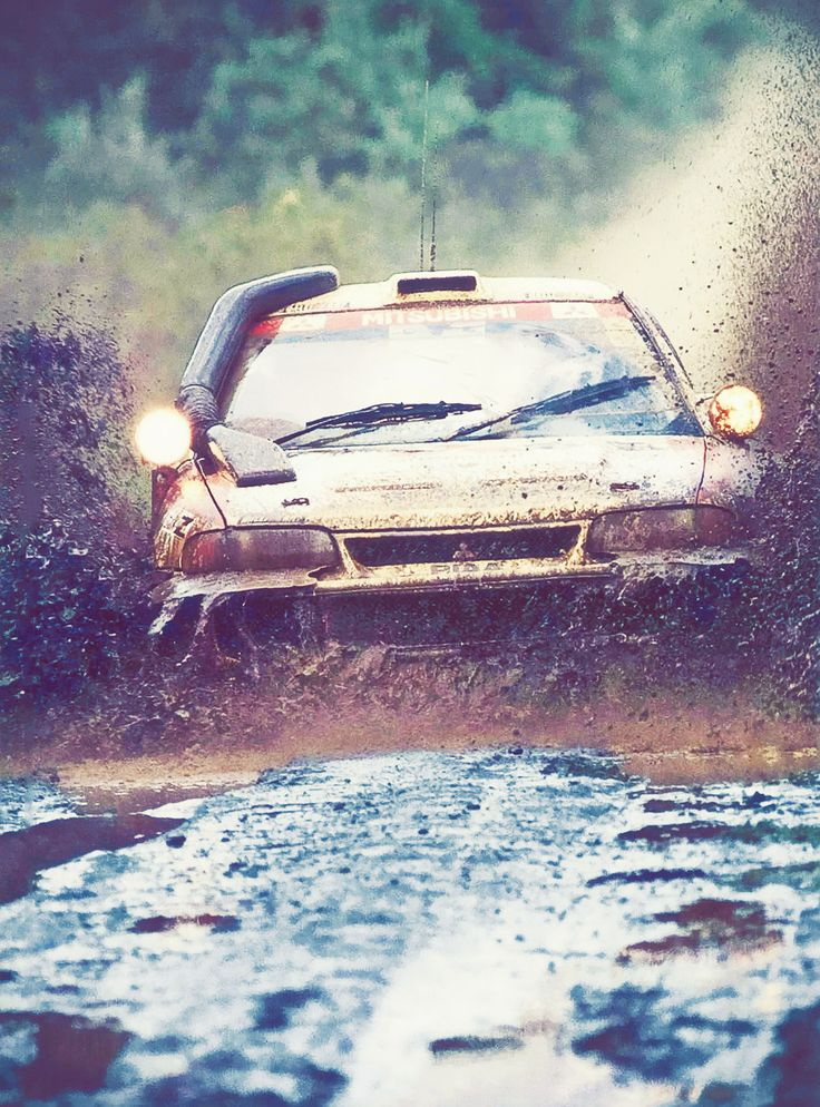 Kenya Rally - Mitsubishi Lancer Evo - Mäkinnen in the Mud