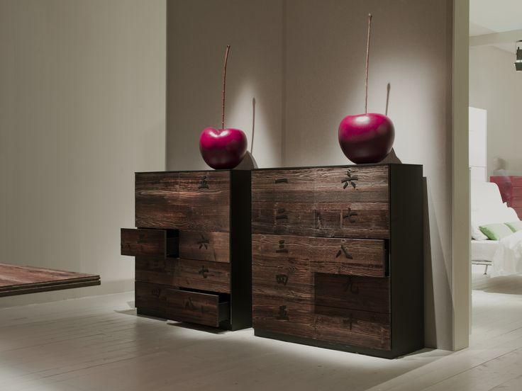 Cômoda de madeira XIAN 10 drawers Coleção XIAN by EmmeBi design Pietro Arosio