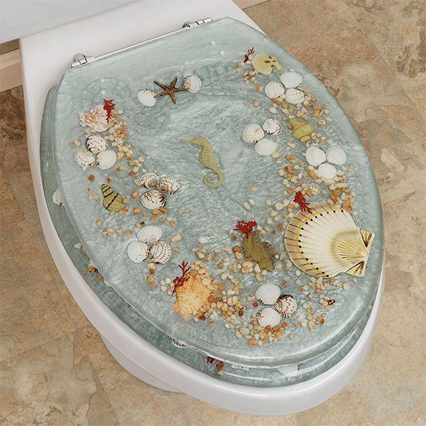 Jewel Shell Elongated Toilet Seat Elongated Toilet Seat Toilet Seat Bathroom Decor