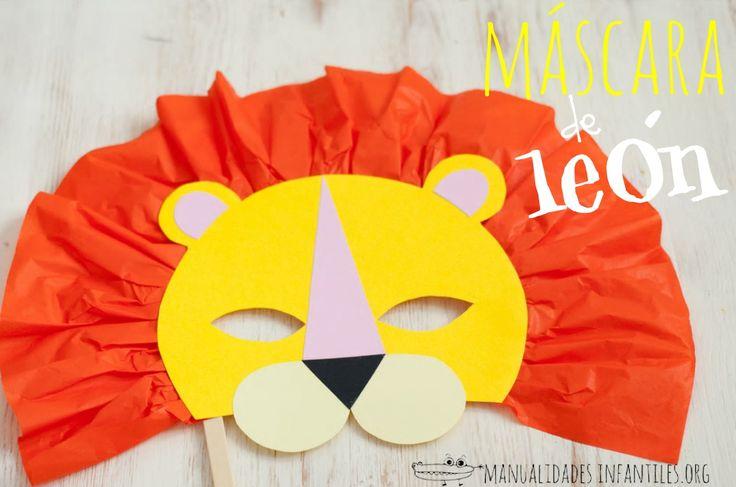 Mascara de leon papel