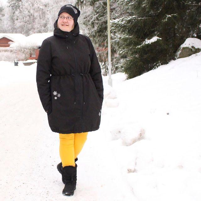Talvitakki - vuoden ensimmäinen ompelu