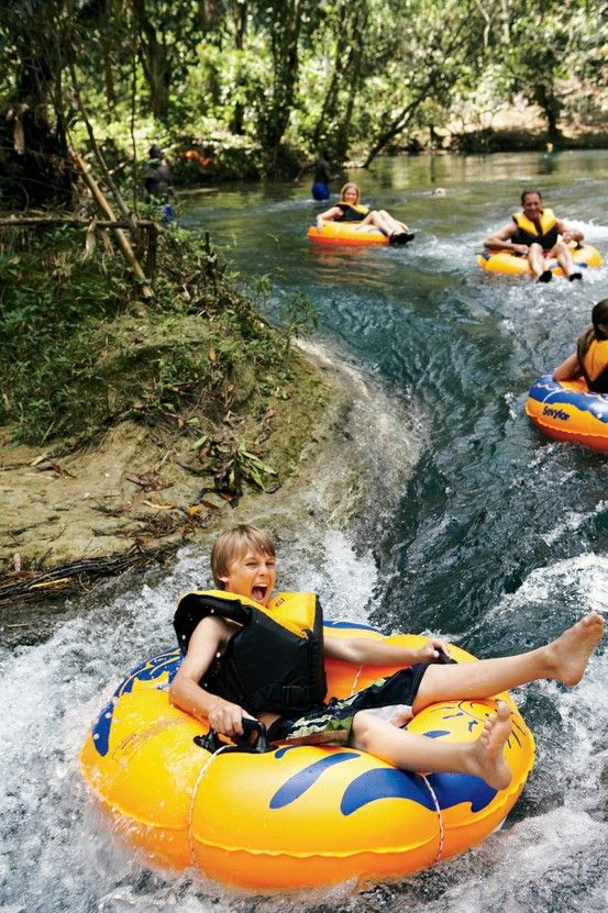 You're in for a rush in Falmouth, Jamaica. Tube down the lush tropical valley of the White River before cruising to the infamous Dunn's River Falls.