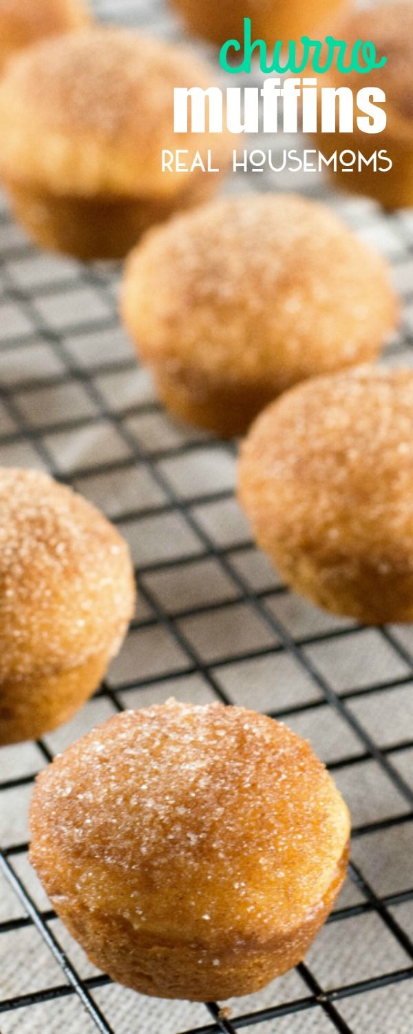 CHURRO MUFFINS transform a sweet cinnamon Mexican dessert into bite-sized mini muffins that are baked instead of fried!