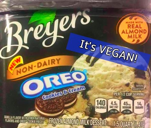 ShareHot on the heels of Ben & Jerry's new vegan flavors, Breyers has created a new vegan Oreo Cookies & Cream Ice Cream made with Almond Milk! I spoke with a salesperson at an Indiana Meijers where the new vegan ice cream is sold, and was told it was so popular that it flew off the shelf and they are…