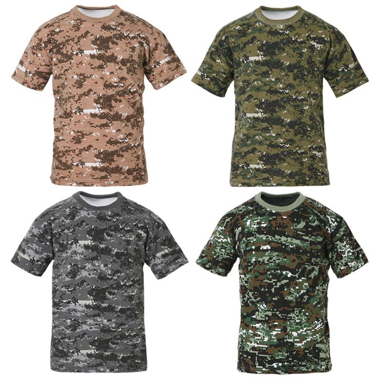 Mens Military Tactical Digital Camoflage T Shirts Army Combat Uniform Tee XS XL   eBay