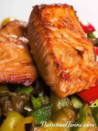 Barbecue Salmon | Only 195 Calories | Tender, Buttery & Flakey | Easy to Make | Great source of Omegas to Fight inflammation |For MORE Nutrition & Fitness Tips & RECIPES please SIGN UP for our FREE NEWSLETTER www.NutritionTwins.com