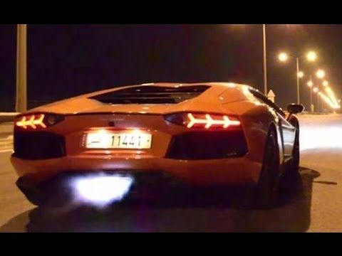 The Lamborghini Spits Flames At Spectators Before Speeding Off Into The  Night.