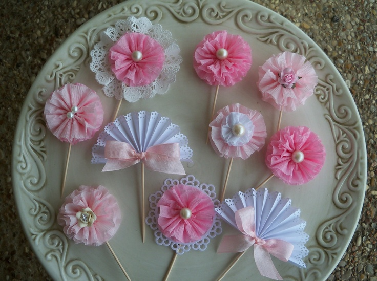 Cupcake Topper Sampler Set of 10 for birthday Party