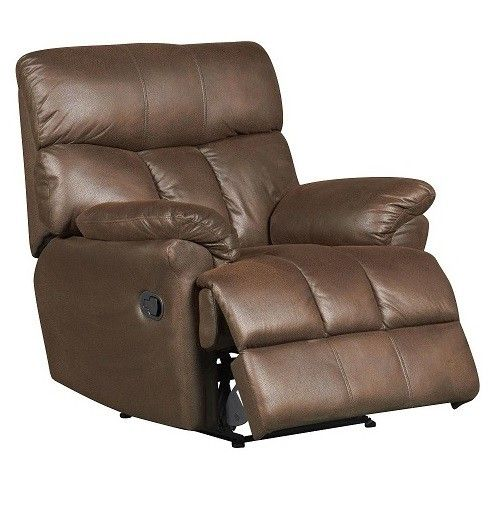#Tuscany Brown #Reclining Fabric #Armchair - Clearance Line Special Price £199.00