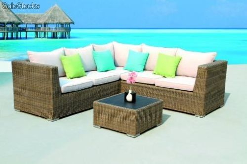 mobiliario Jardin , fibra sintetica, fibra de Rattan, muebles Porche, Hosteleria