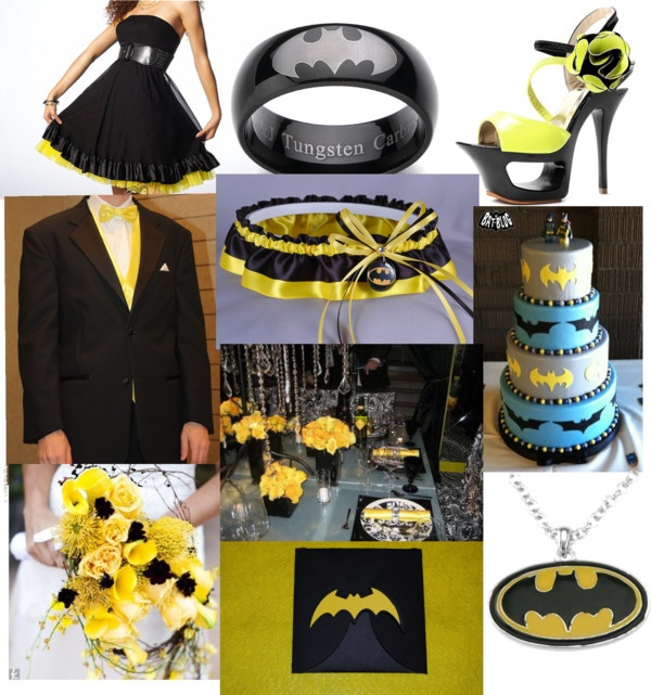 """Batman wedding :)"" by mandijoe95 on Polyvore: This is the third Batman wedding I've seen, and that makes me incredibly happy. You have no idea."