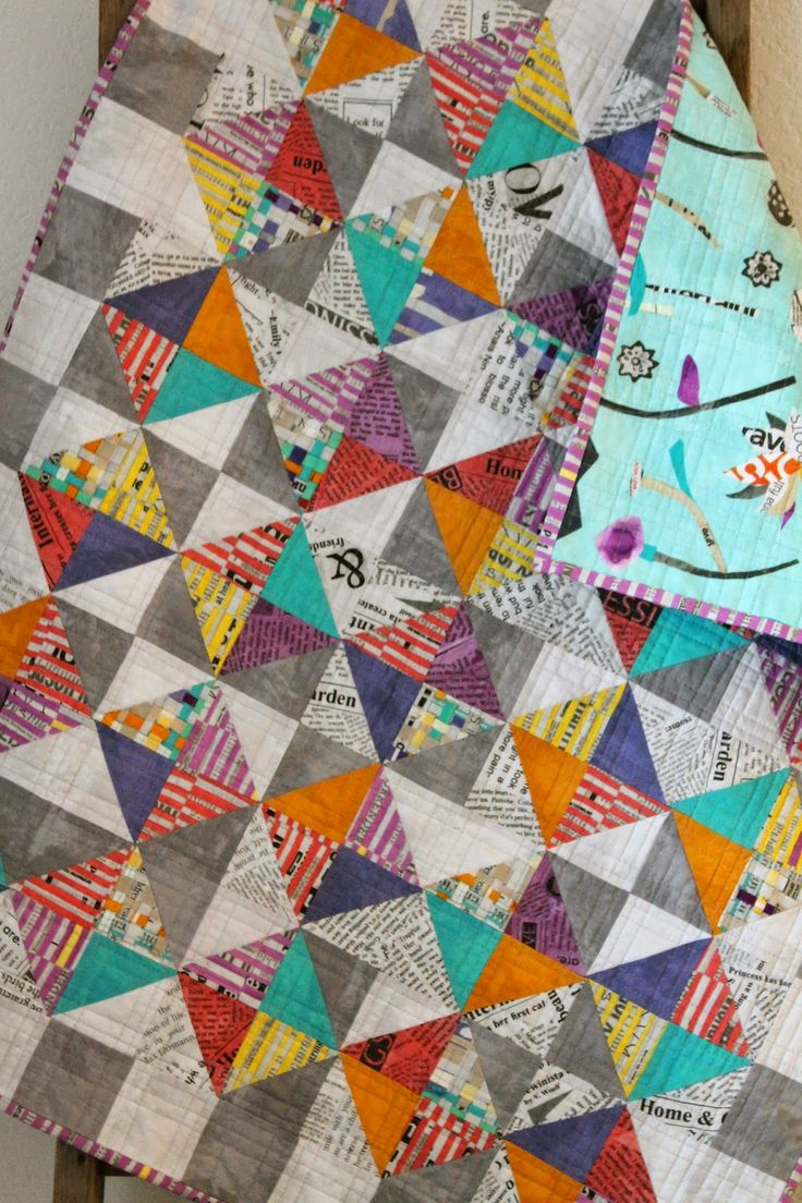 """Sorbet quilt pattern (adaptation) by Katie Clark Blakesley using """"Paint"""" fabric line by Carrie Bloomston 
