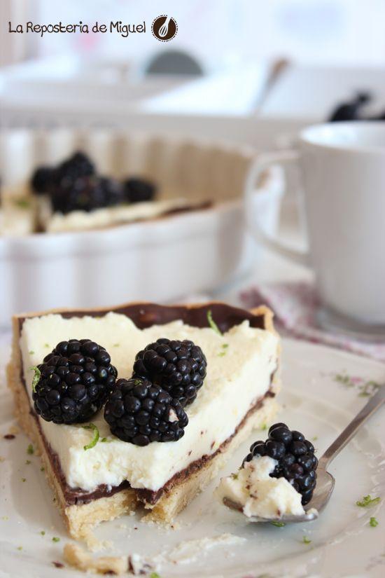 Tarta de Moras, Mascarpone y Chocolate