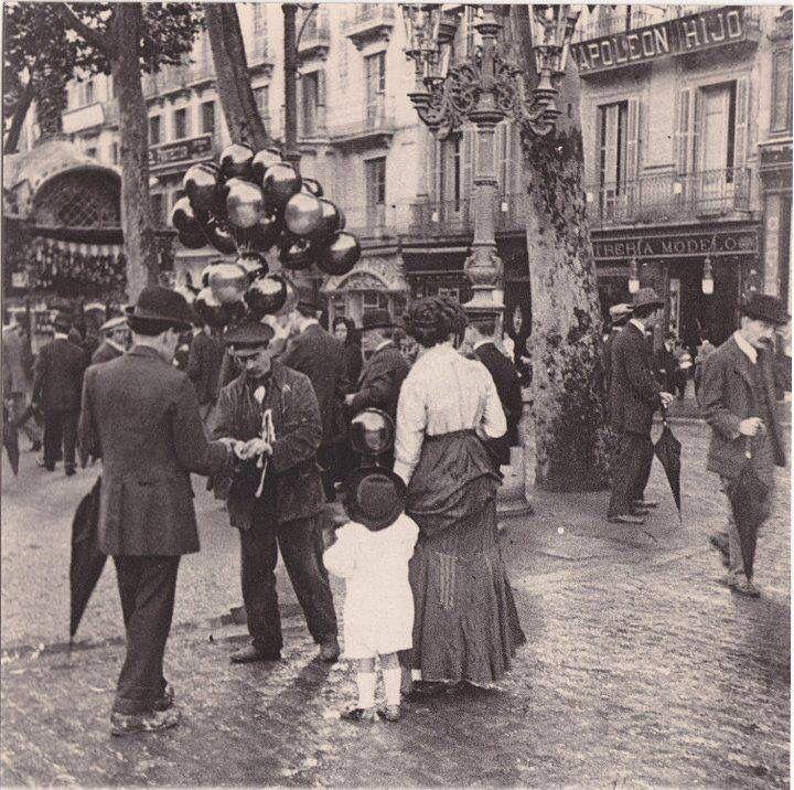 Barcelona, Rambla de Canaletes 1910.