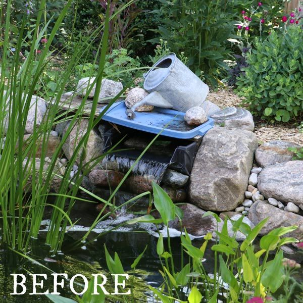 How To Hide A Pond Waterfall Spillway Box Pond Waterfall Diy Pond Waterfall Waterfalls Backyard
