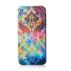 colorata custodia rigida modello di fiori per il iphone 4 / 4s