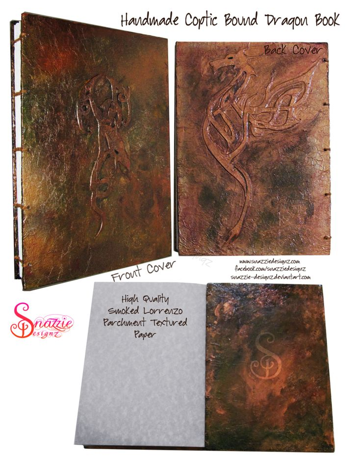 Handmade Coptic Bound Dragon Book by snazzie-designz.deviantart.com on @DeviantArt