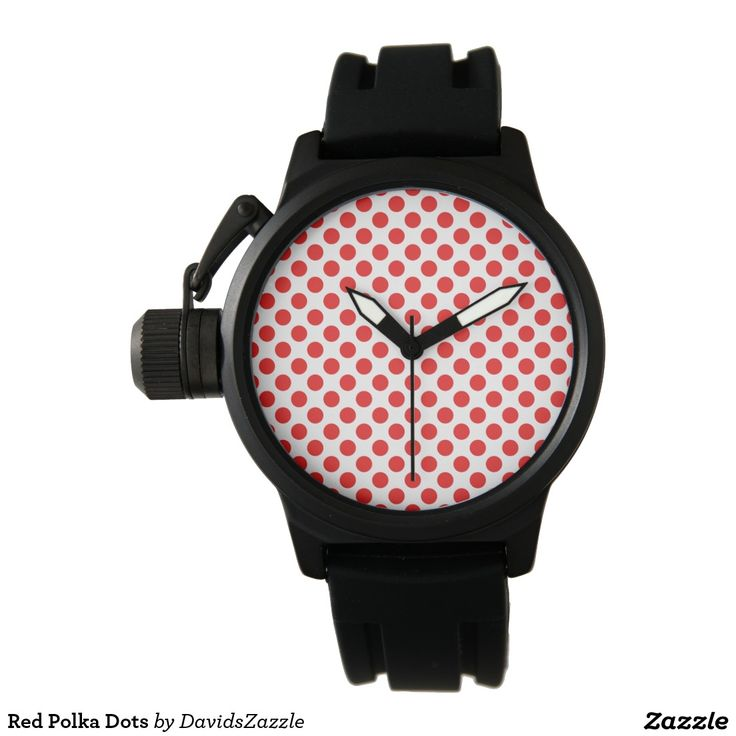 Red Polka Dots Watch Available on many products! Hit the 'available on' tab near the product description to see them all! Thanks for looking!     @zazzle #art #polka #dots #shop #chic #modern #style #circle #round #fun #neat #cool #buy #sale #shopping #men #women #sweet #awesome #look #accent #fashion #clothes #apparel #earrings #headband #sunglasses #ties #belts #fingernail #black #white #color #blue #orange #green #yellow #purple #violet #lilac #aqua #light #dark #pink #red