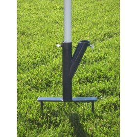 """""""THE ORIGINAL UMBRELLA STAND"""" - USE ANYWHERE, SAND/GRASS/SOIL-STEEL COLOR BLUE WITH THUMBSCREWS"""