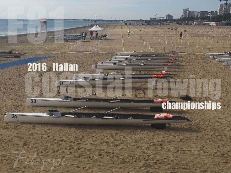 Filippi C2x F81 in occasione dei Campionati Italiani di Coastal Rowing 2016