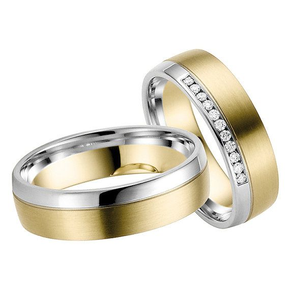 golddiamond wedding bands by lenafashion8 on Etsy, $1795.00