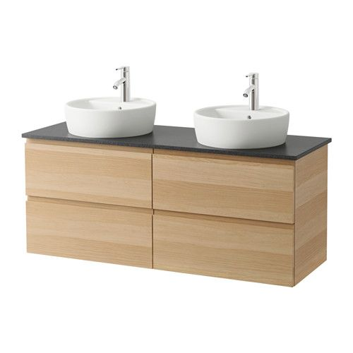 free trnviken meuble lavabo av lavabo poser effet chne blanchi noir with meuble lavabo en coin. Black Bedroom Furniture Sets. Home Design Ideas