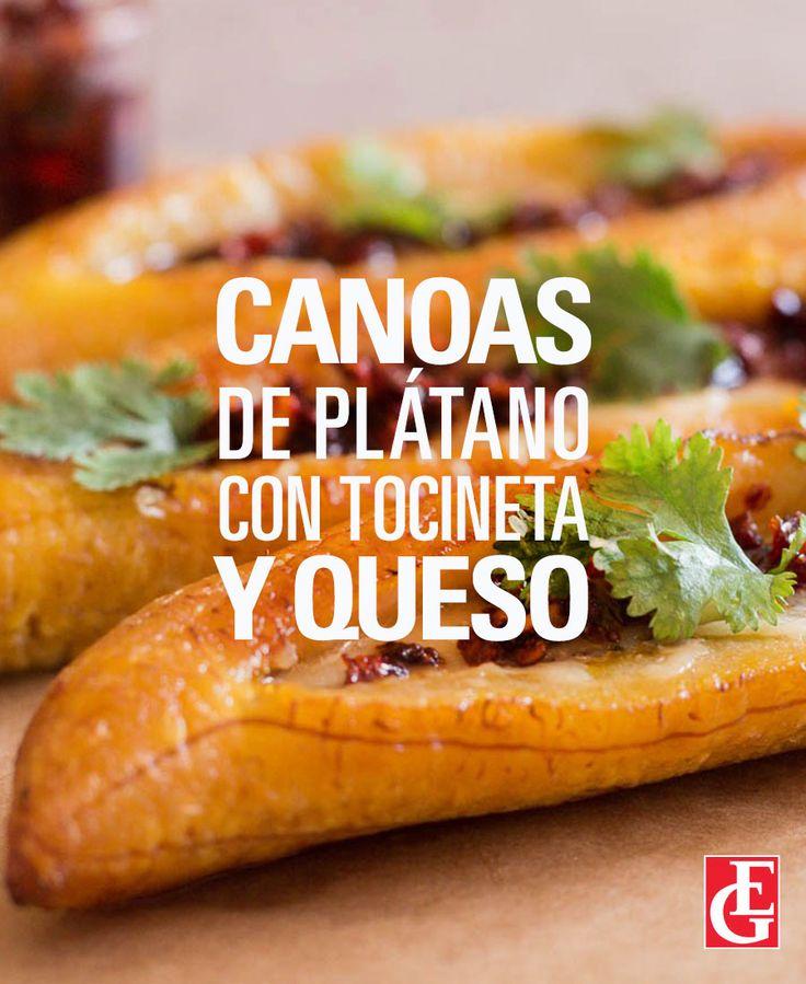 Excelsior Gama | Canoas de plátano con tocineta y queso