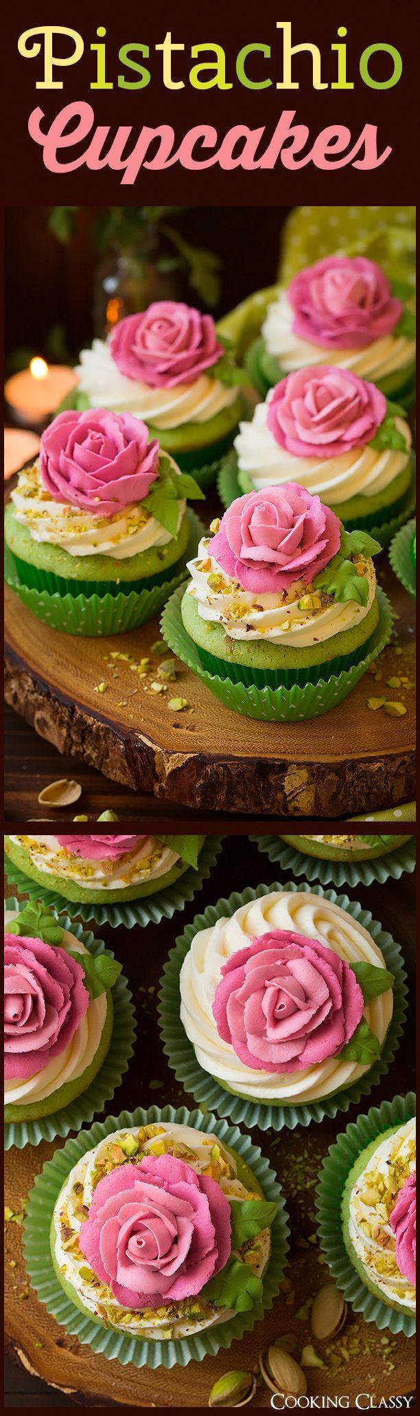 Pistachio Cupcakes - Cooking Classy