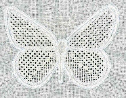 fertiger Schmetterling, ungewaschen | finished, but unwashed butterfly