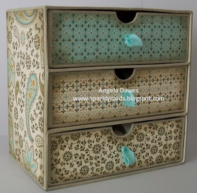 Cute chest with scrapbook paper