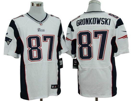 Nike Patriots #87 Rob Gronkowski White Mens NFL Elite Jersey