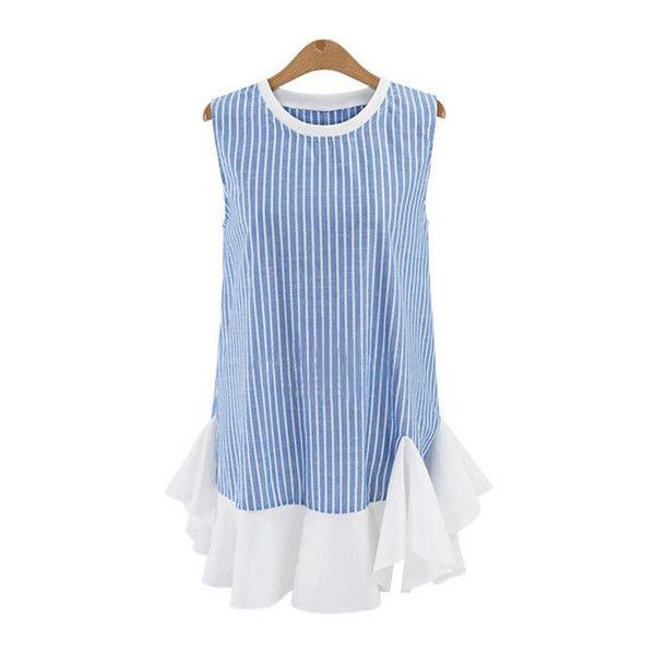 1000  ideas about Blue Striped Dresses on Pinterest - Striped midi ...