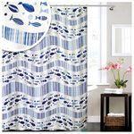 Bad Zubehör Wannenvorhang gemustert Vorhang Dusche Textil