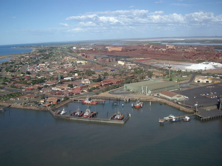 Port Hedland from the helicopter