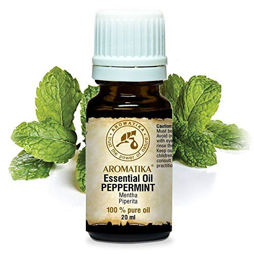 Peppermint Essential Oil 20 ml 100 % Pure and Natural - Undiluted Mentha Piperita - India - Uses for Stress Relief - Headaches - Calming - Anti septic - Good Night - Freshen Rooms - Home Fragrances - Best for Beauty - Aromatherapy - Relaxation - Massage - SPA - Diffuser - Aroma Lamps - Making Candles - Scented Oils - Brown Glass Bottle - by AROMATIKA #Peppermint #Essential #Pure #Natural #Undiluted #Mentha #Piperita #India #Uses #Stress #Relief #Headaches #Calming #Anti #septic #Good #Night…