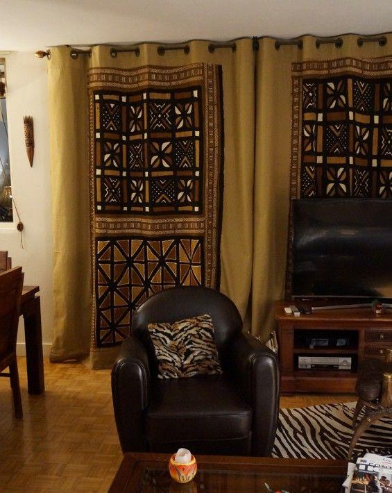rideaux bogolan deco maison mkd pinterest deco africaine idee deco et ethnique. Black Bedroom Furniture Sets. Home Design Ideas