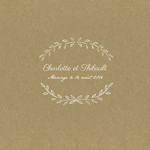 faire-part de mariage poème - Atelier Rosemood - www.Rosemood.fr #wedding #paper #kraft