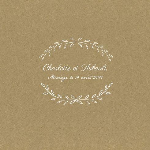 Pour un mariage champêtre et vintage choisissez un faire-part de mariage kraft... #wedding #paper #kraft