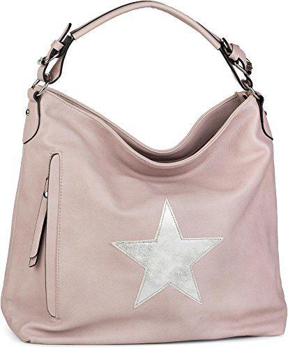 a9ea3afd86 styleBREAKER sac à main shopper look vintage avec étoile sac besace  bandoulière femmes 02012076 couleur:Vieux rose-